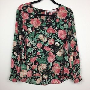 Revolve Lovers + Friends Floral Rose Long Sleeve
